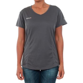 tekstylia Damskie T-shirty z krótkim rękawem Izas ADAIA DARK GREY Gris oscuro