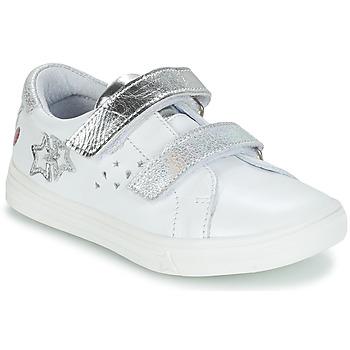 Buty Dziewczynka Kozaki GBB SANDRA Biały-srebrny