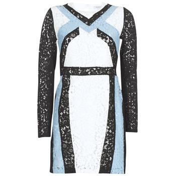 tekstylia Damskie Sukienki krótkie Morgan RLIXI Biały / Czarny / Niebieski