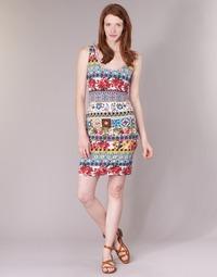 tekstylia Damskie Sukienki krótkie Desigual OCONDE Wielokolorowe