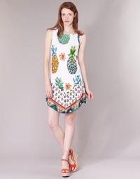 tekstylia Damskie Sukienki krótkie Desigual HOQLER Biały