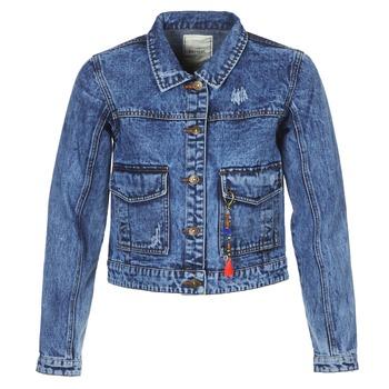 tekstylia Damskie Kurtki jeansowe Kaporal BUCHE Niebieski