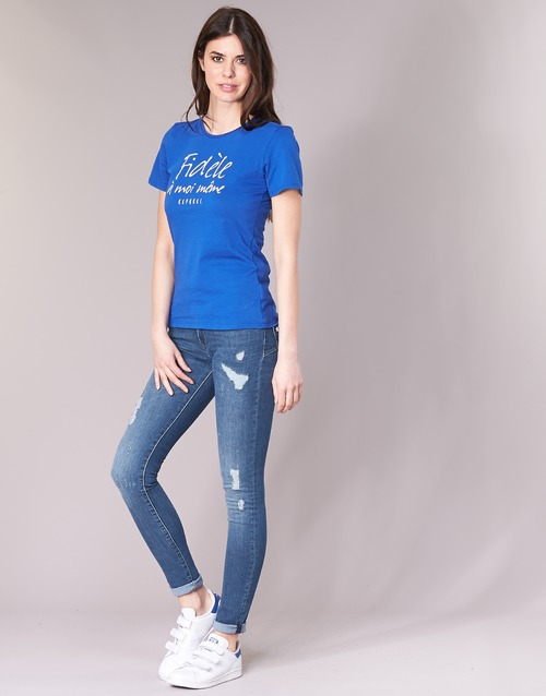 Kaporal Loka Niebieski / Medium - Bezpłatna Dostawa- Tekstylia Jeansy Slim Fit Damskie 24430 Najniższa Cena