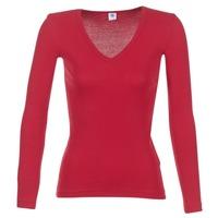 tekstylia Damskie T-shirty z długim rękawem Petit Bateau  Czerwony