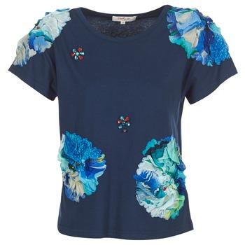 tekstylia Damskie T-shirty z krótkim rękawem Derhy BANGKOK Marine