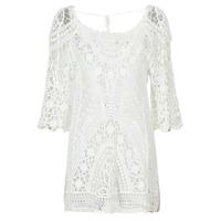 tekstylia Damskie Sukienki krótkie Banana Moon MAGBY DREAMLAND Biały