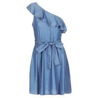 tekstylia Damskie Sukienki krótkie MICHAEL Michael Kors ONE SHLDR RUFFLE DRS Denim