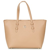 Torby Damskie Torby shopper Tommy Hilfiger TH SIGNATURE STRAP TOTE Beżowy