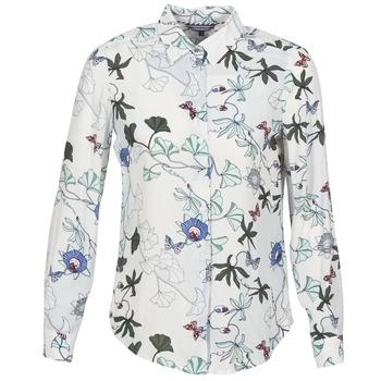 tekstylia Damskie Koszule Tommy Hilfiger MIRAN-SHIRT-LS Biały
