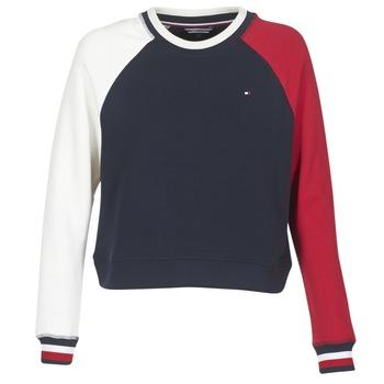 tekstylia Damskie Bluzy Tommy Hilfiger APRIL-ROUND-NK-SWEATSHIRT Niebieski / Biały / Czerwony