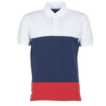 tekstylia Męskie Koszulki polo z krótkim rękawem Tommy Hilfiger WCC-CALEB-COLOURBLOCK-POLO-S/S-RF Biały / Niebieski / Czerwony