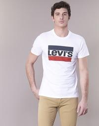 tekstylia Męskie T-shirty z krótkim rękawem Levi's GRAPHIC SPORTSWEAR LOGO Biały / Niebieski / Czerwony