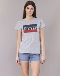 tekstylia Damskie T-shirty z krótkim rękawem Levi's THE PERFECT TEE Szary