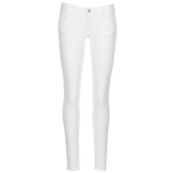 tekstylia Damskie Spodnie z pięcioma kieszeniami Le Temps des Cerises 316 Biały