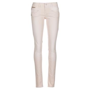 tekstylia Damskie Spodnie z pięcioma kieszeniami Freeman T.Porter ALEXA SLIM MAGIC COLOR Różowy