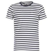 tekstylia Męskie T-shirty z krótkim rękawem Tommy Jeans TJM REG STRIPE CN KNIT S/S 15 Marine / Szary / Chiné