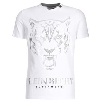 tekstylia Męskie T-shirty z krótkim rękawem Philipp Plein Sport EDBERG Biały / Srebrny