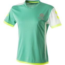 tekstylia Damskie T-shirty z krótkim rękawem Hummel Maillot Femme  Trophy vert/blanc