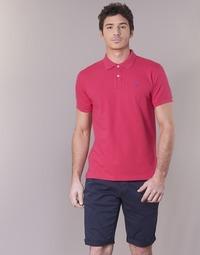 tekstylia Męskie Koszulki polo z krótkim rękawem Gant CONTRAST COLLAR PIQUE RUGGER Różowy