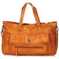 Torby Damskie Torby na ramię Pieces TOTALLY ROYAL LEATHER TRAVEL BAG COGNAC