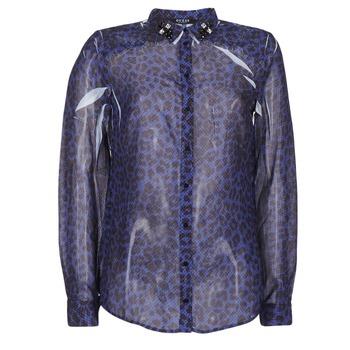 tekstylia Damskie Koszule Guess BORICE Niebieski