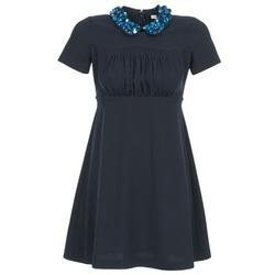 tekstylia Damskie Sukienki krótkie Manoush COMMUNION Niebieski
