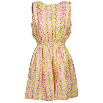 tekstylia Damskie Sukienki krótkie Manoush FLAMINGO Różowy / Fluo / Żółty