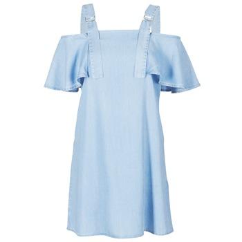 tekstylia Damskie Sukienki krótkie Guess RACUNO Niebieski