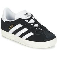 Buty Dziecko Trampki niskie adidas Originals GAZELLE I Czarny / Biały
