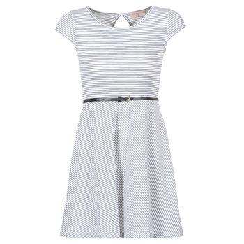 tekstylia Damskie Sukienki krótkie Moony Mood IKIMI Biały / Marine