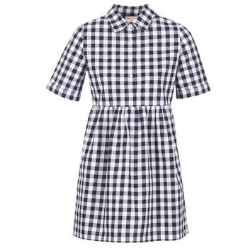 tekstylia Damskie Sukienki krótkie Moony Mood IKAMAL Biały / Czarny