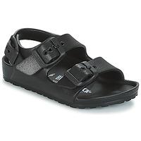Buty Chłopiec Sandały Birkenstock MILANO-EVA Czarny