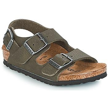 Buty Chłopiec Sandały Birkenstock MILANO Zielony