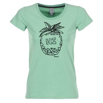tekstylia Damskie T-shirty z krótkim rękawem Bench BLWG002642 Zielony