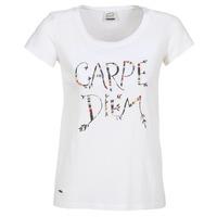 tekstylia Damskie T-shirty z krótkim rękawem Oxbow K1TEANA Biały