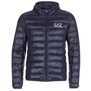 tekstylia Męskie Kurtki pikowane Emporio Armani EA7 CORE ID 8NPB02 Marine