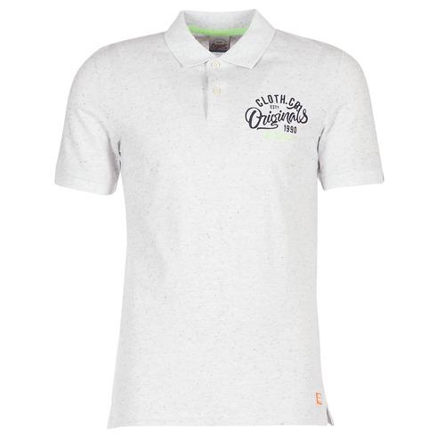 tekstylia Męskie Koszulki polo z krótkim rękawem Jack & Jones JORTRAST Biały