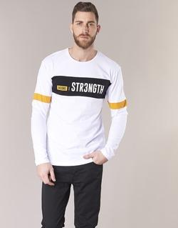 tekstylia Męskie T-shirty z krótkim rękawem Jack & Jones JCOACE-TEE-LS-CREW-NECK Biały