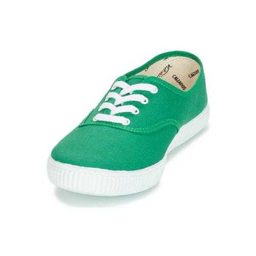 Victoria Inglesa Lona Zielony - Bezpłatna Dostawa- Buty Trampki Niskie 6450 Najniższa Cena