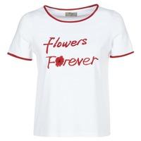tekstylia Damskie T-shirty z krótkim rękawem Betty London INNATIMBI Biały / Czerwony