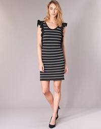 tekstylia Damskie Sukienki krótkie Vero Moda VMABHY Czarny / Biały
