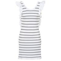tekstylia Damskie Sukienki krótkie Vero Moda VMABHY Biały / Czarny