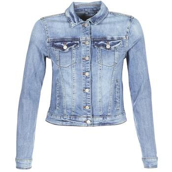 tekstylia Damskie Kurtki jeansowe Vila VISHOW Niebieski / Medium