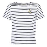 tekstylia Damskie T-shirty z krótkim rękawem Betty London INNAMOU Biały / Marine