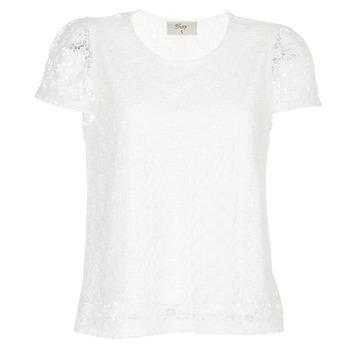 tekstylia Damskie Topy / Bluzki Betty London I-LOVI Biały