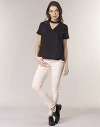 tekstylia Damskie Spodnie z pięcioma kieszeniami Noisy May NMLUCY Różowy
