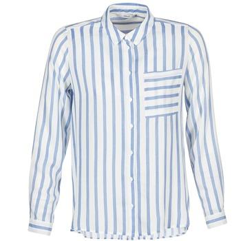 tekstylia Damskie Koszule Only CANDY Biały / Niebieski