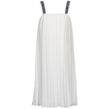 tekstylia Damskie Sukienki długie American Retro VERO LONG Biały