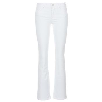 tekstylia Damskie Jeansy bootcut Yurban IALOLAO Biały