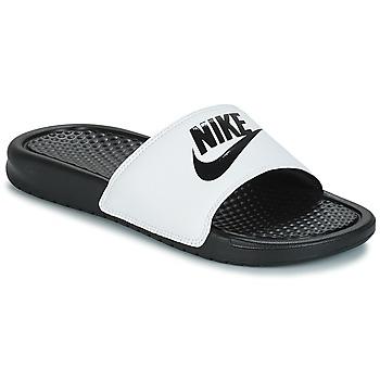 Buty Męskie klapki Nike BENASSI JUST DO IT Biały / Czarny